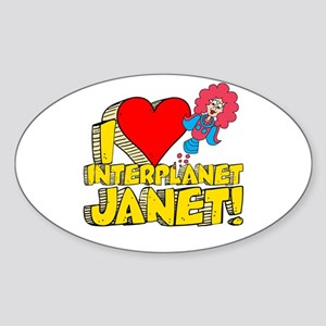 I Heart Interplanet Janet! Sticker (Oval)