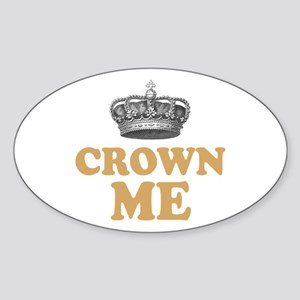 Crown Me Royal British Sticker (Oval)