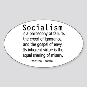 WINSTON CHURCHILL SOCIALISM Sticker (Oval)