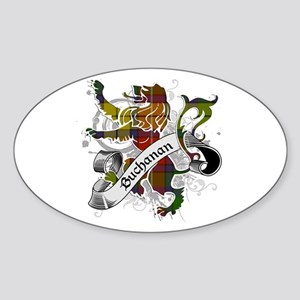 Buchanan Tartan Lion Sticker (Oval)