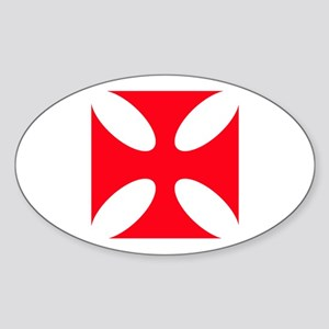 templar cross Sticker (Oval)