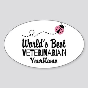 World's Best Veterinarian Sticker (Oval)
