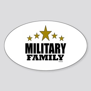 Military Family Sticker (Oval)