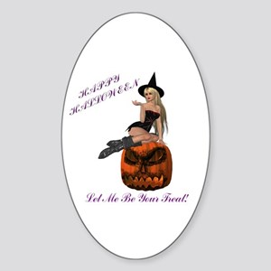 Treat Witch Oval Sticker