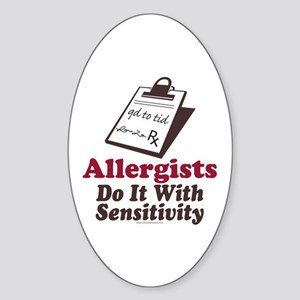 Allergist Immunologist Oval Sticker