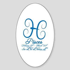Pisces Oval Sticker