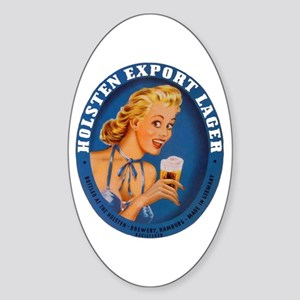 Germany Beer Label 1 Sticker (Oval)