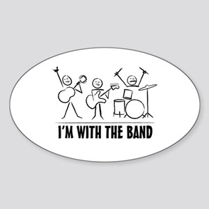 Stick man band Sticker (Oval)