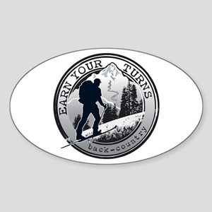 Earn Your Turns Sticker (Oval)