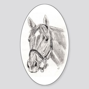 Horses Sticker (Oval)