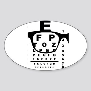 Blurr Eye Test Chart Sticker