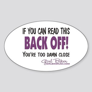 Back Off! Oval Sticker