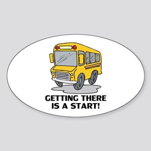 Gifts for School Bus Drivers Oval Sticker