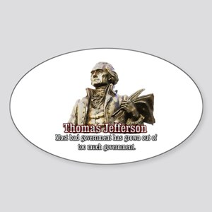 Thomas Jefferson founding father Oval Sticker