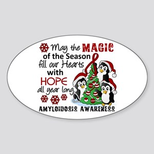 Christmas Penguins Amyloidosis Sticker (Oval)