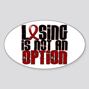 Losing Is Not Option Amyloidosis Sticker (Oval)