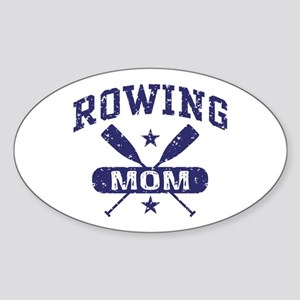 Rowing Mom Sticker (Oval)