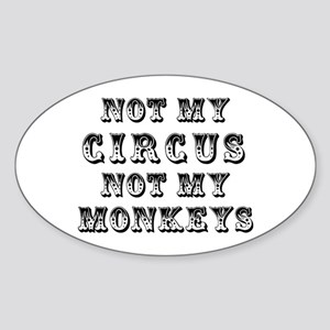 Not Circus Sticker (Oval)
