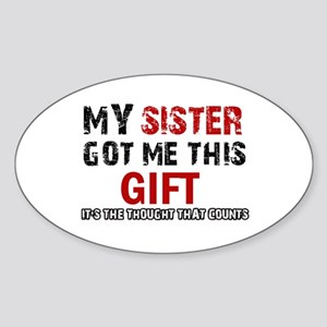 Cool Sister Designs Sticker (Oval)