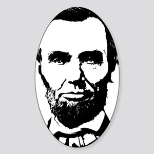 Abe Lincoln Silhouette Sticker (Oval)