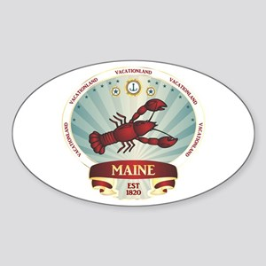Maine Lobster Crest Sticker (Oval)