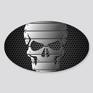 Chrome Skull Sticker