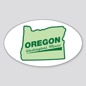 oregon - washington's mexico Oval Sticker