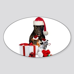 Christmas Cane Corso Sticker