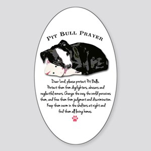 Pit Bull Prayer Sticker