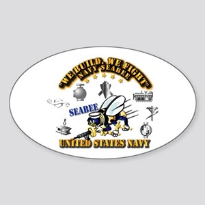 Navy - Seabee - Rates Sticker (oval)