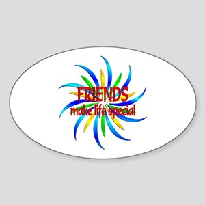 Friends Make Life Special Sticker (Oval)