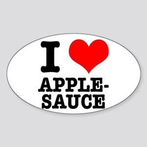 I Heart (Love) Applesauce Oval Sticker