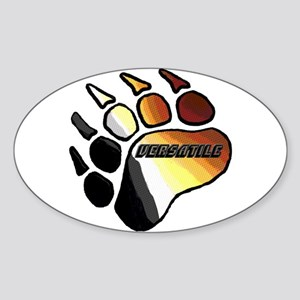 BEAR PRIDE PAW/VERSATILE Oval Sticker