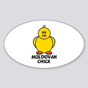 Moldovan Chick Oval Sticker