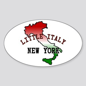 Little Italy New York Oval Sticker