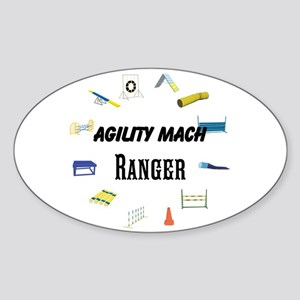 Dog Agility Title Sticker (oval)