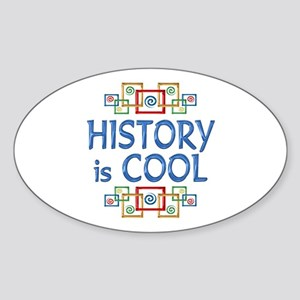 History is Cool Sticker (Oval)