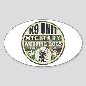 K9 Unit Military Working Dogs Sticker (Oval)