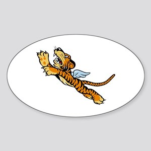 Flying Tigers Sticker (Oval)