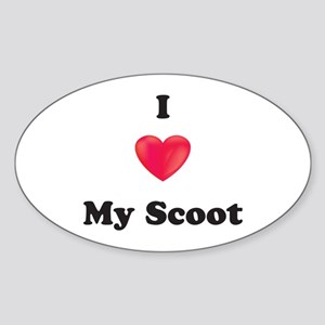 I Love My Scoot Sticker