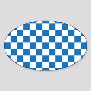 BLUE AND WHITE Checkered Pattern Sticker