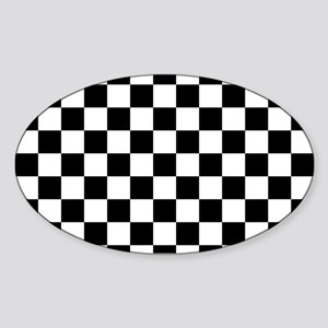 BLACK AND WHITE Checkered Pattern Sticker