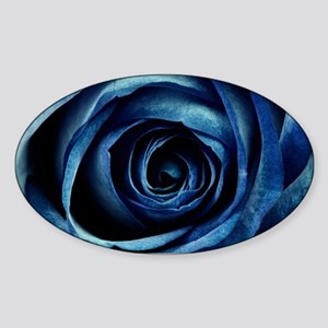 Decorative Blue Rose Bloom Sticker