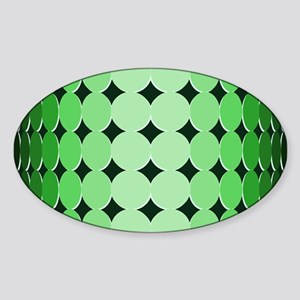 Optical Illusion Dots green Sticker