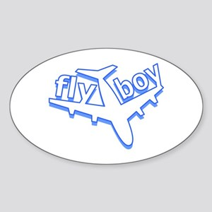 Fly Boy Oval Sticker