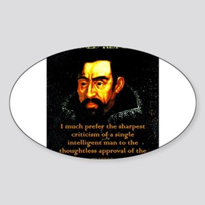 I Much Prefer - Kepler Sticker (Oval)