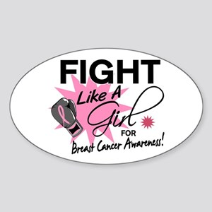 Licensed Fight Like a Girl 11.5 Sticker (Oval)