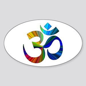 Om 2 Sticker (Oval)