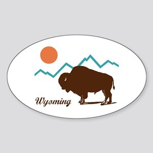 Wyoming Sticker (Oval)