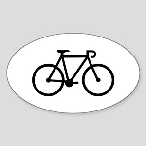 Bicycle bike Sticker (Oval)